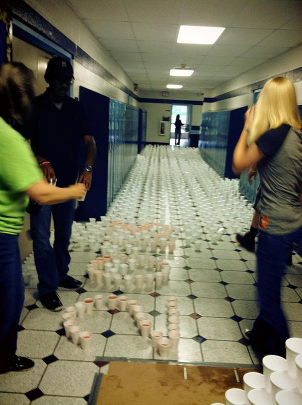 8 cups hallways of the high school