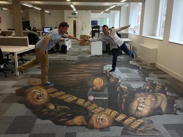 The Lions 3D Street Art.