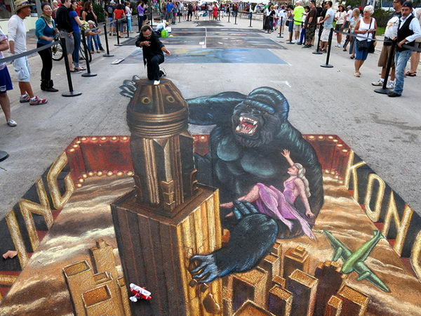 Kingkong 3D Street Art.