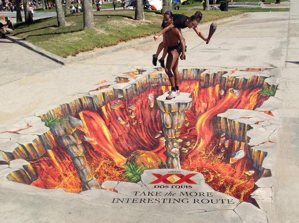 Lava Painting 3D Street Art.