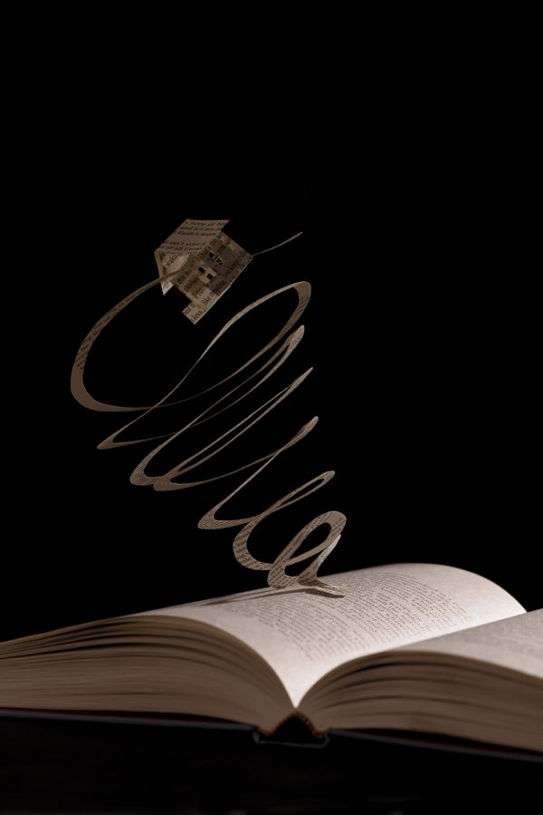 Book Sculptures by Julya Hajnoczky,