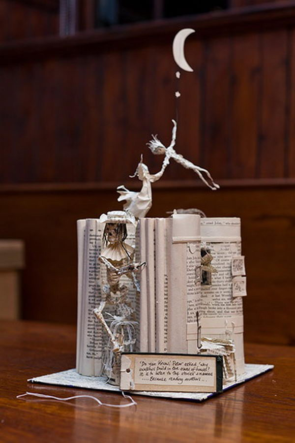 Peter Pan Book Sculpture,