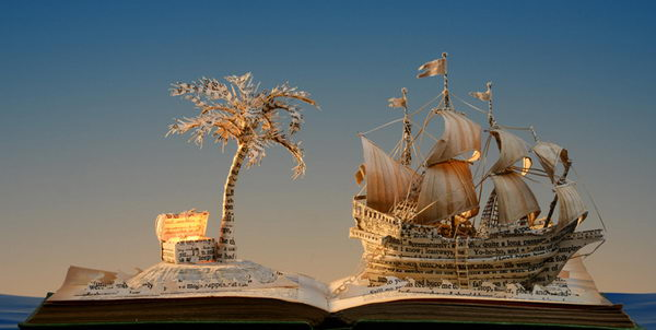Book Sculpture by Su Blackwell,
