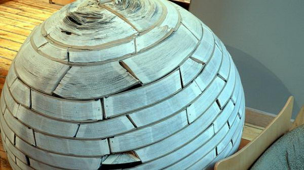 Book Ball Sculpture,