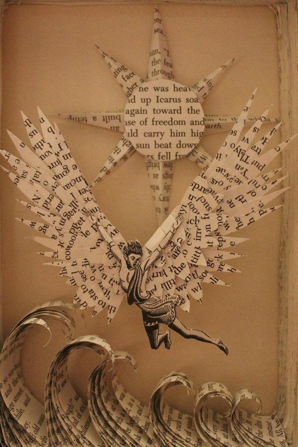 Icarus Book Sculpture,