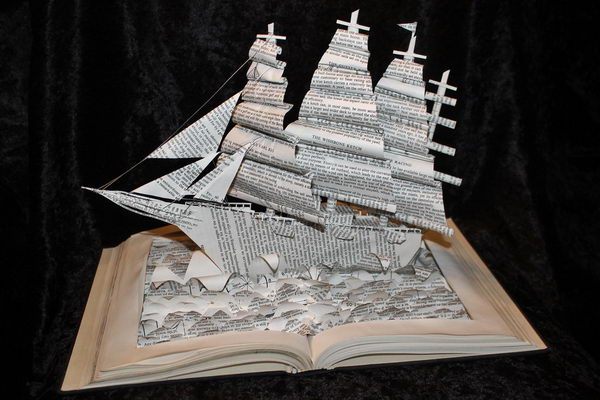 Yacht Book Sculpture,