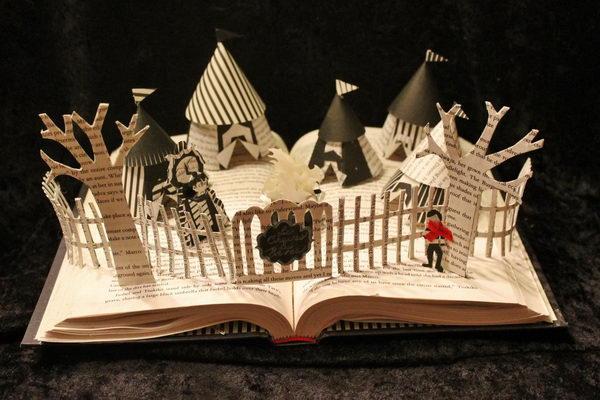 The Night Circus Book Sculpture,