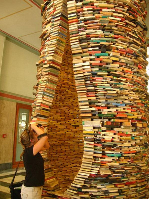 sculpture sculptures books prague cool library amazing kelly reading read things display obp flickr 3d nooks awesome curiousities cabinet wow