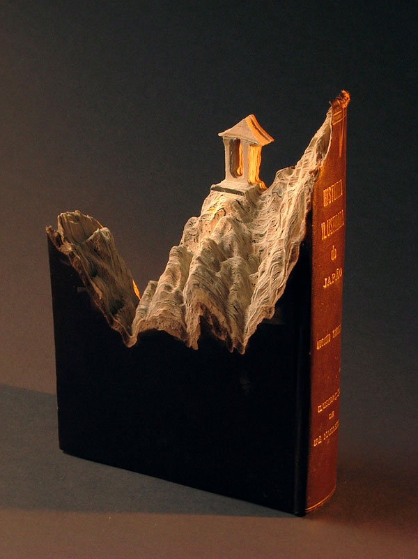 3D Landscape Book Sculpture,