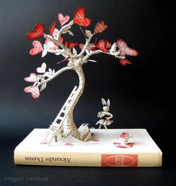 The Tree of Love Book Sculpture,