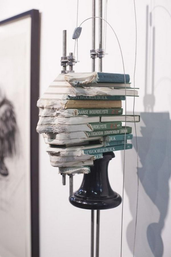 Book Sculpture by Wim Botha,