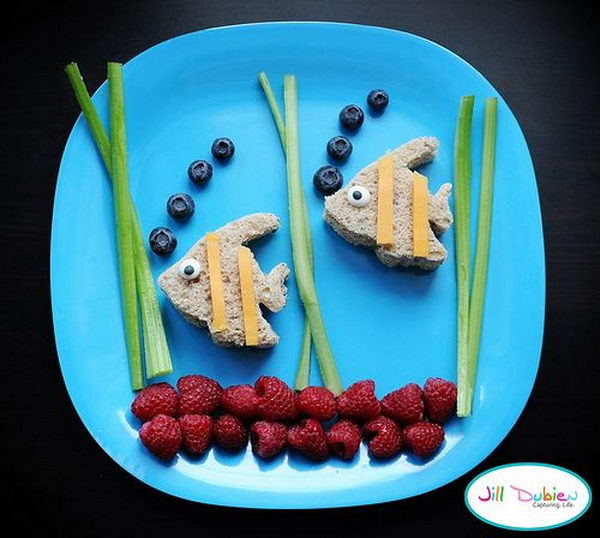 Fish Food Art for Bubble Guppies Party,