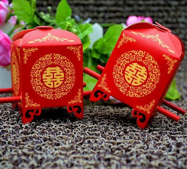 Cute Chinese Wedding Candy Boxes,