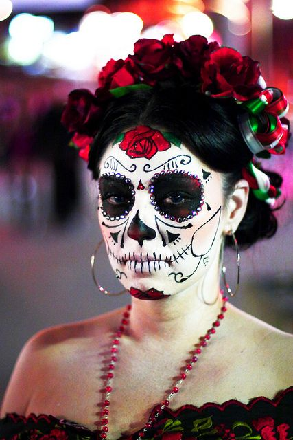 Halloween Makeup Ideas Pictures: 20 Cool Día De Los Muertos Sugar Skull Makeup Art Examples