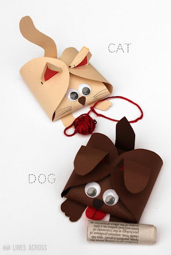 Dog and Cat Paper Gift Boxes,