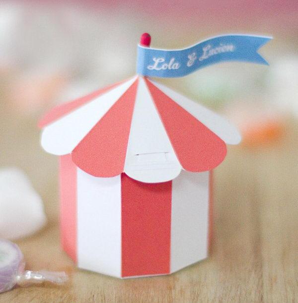Circus Tent Favor Box,