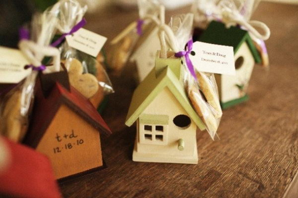Bird House Wedding Favors,