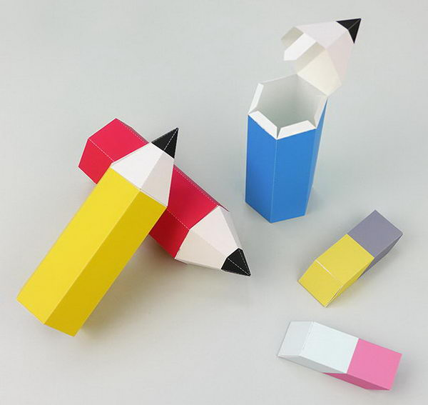 Back to School Pencil Favor Boxe. To celebrate back to school, here are some colorful pencil favor boxes and tiny cute eraser boxes to print that are perfect for teacher gifts or back to school party decorations.