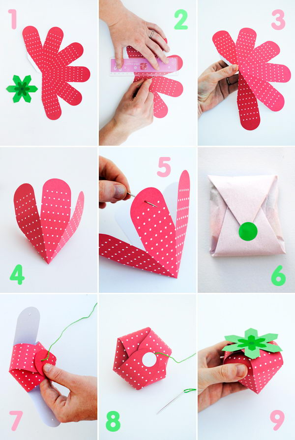 Strawberry Treat Box Printable,