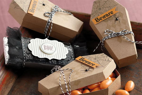 Halloween Coffin Shaped Treat Boxes,