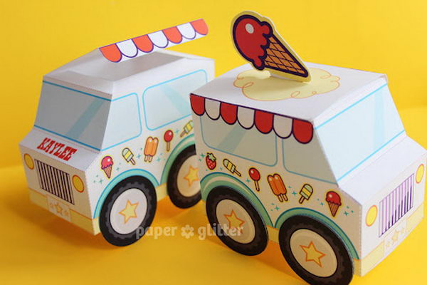 Ice Cream Truck Favor Boxes,