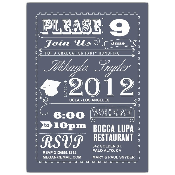 Poster Graduation Invitations,