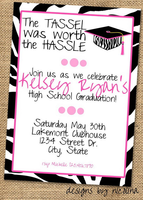 Graduation Invitation for Girl,
