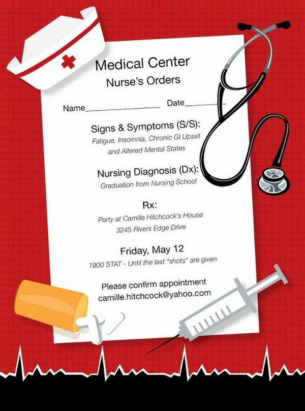 Nurse Graduation Invitation,