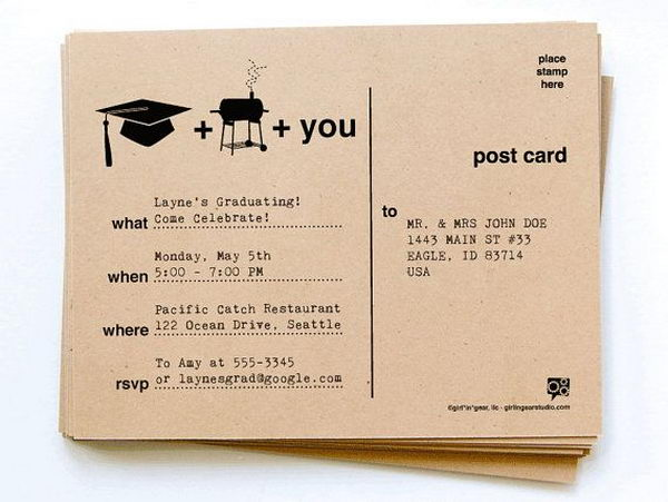 Graduation and BBQ Invitation,