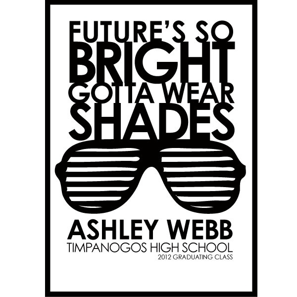 Future's so BRIGHT Graduation Invitation,