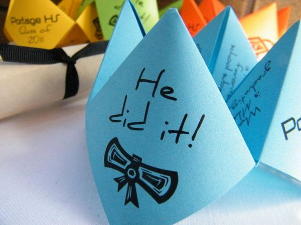 Cootie Catchers Graduation Invitation,