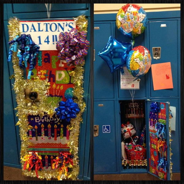 birthday locker decoration