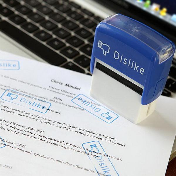 Like and Dislike Stamp Set.