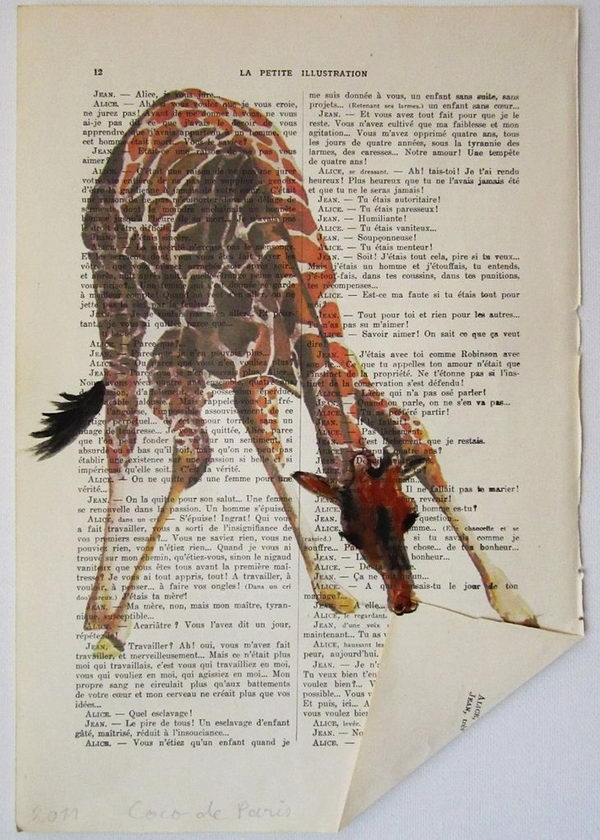 Clever Book Page Art,