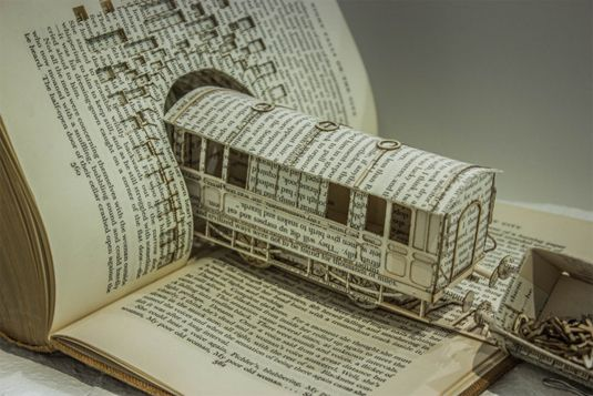 Book Sculpture by Thomas Wightman,