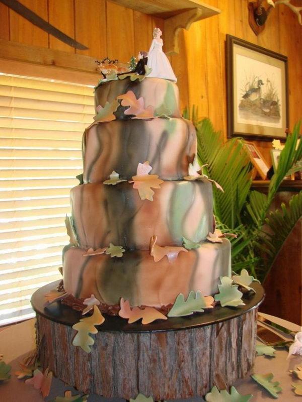 Camouflage wedding cake.