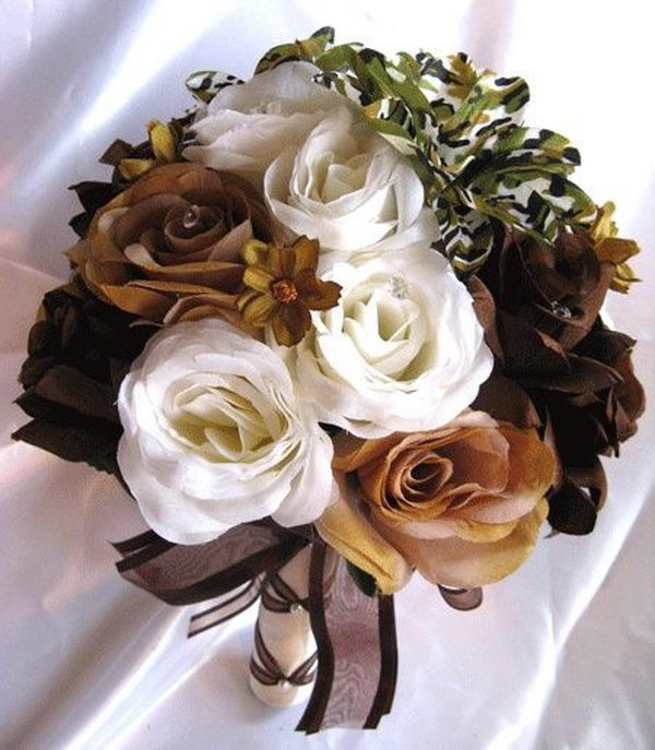 Camouflage Wedding Flowers.