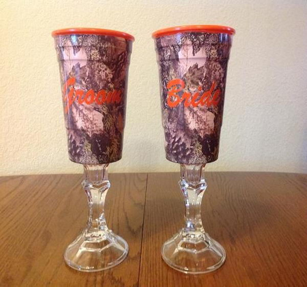 Camo Wedding Glasses.