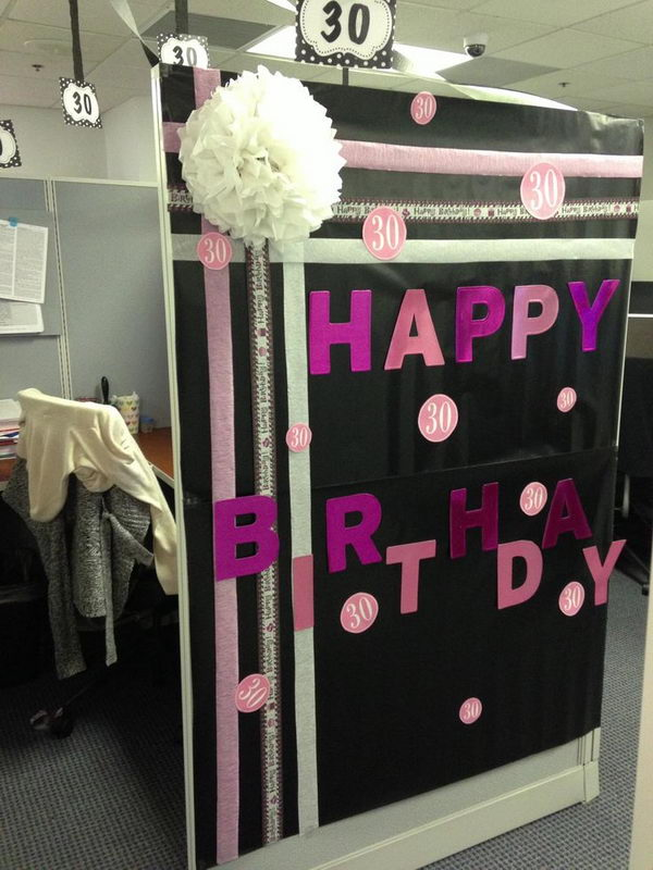 Cubicle Decorations for Birthday.