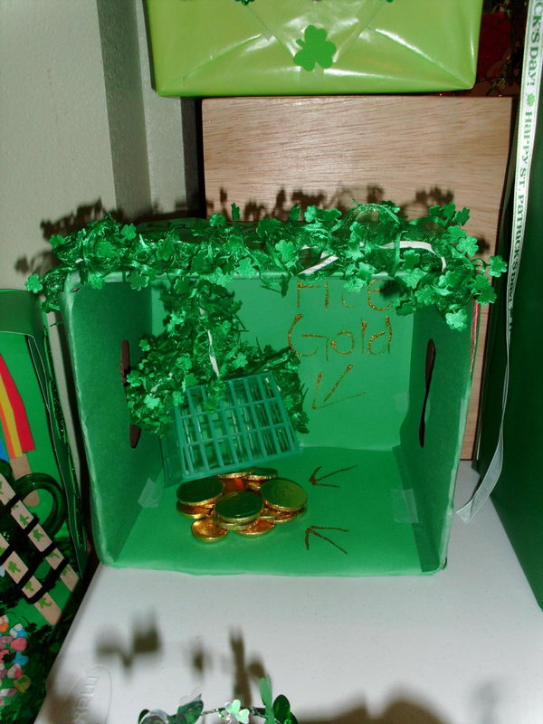 DIY Leprechaun Trap Craft for St. Patrick's Day.