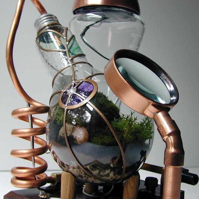 Steampunk Terrarium.