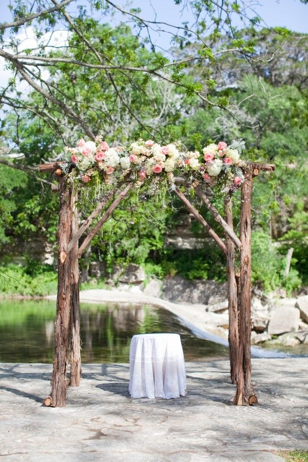 DIY Rustic Wedding Arch,