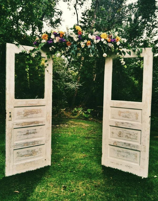 Wooden Door Wedding Arch,