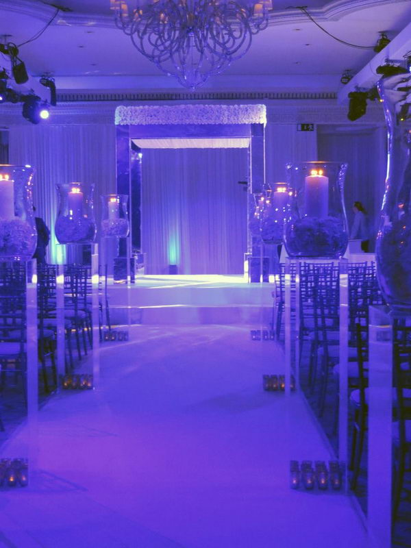 Purple Mirrored Chuppah.