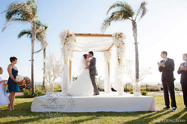 Tropical Wedding Chuppah.