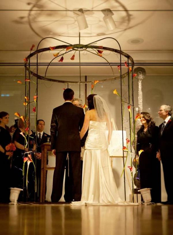 Wire Bird Cage Inspired Chuppah.