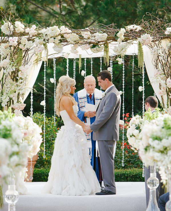 White Luxury Wedding Decor With Wonderful And Beautiful: 15 Cool Wedding Chuppah Ideas 2017