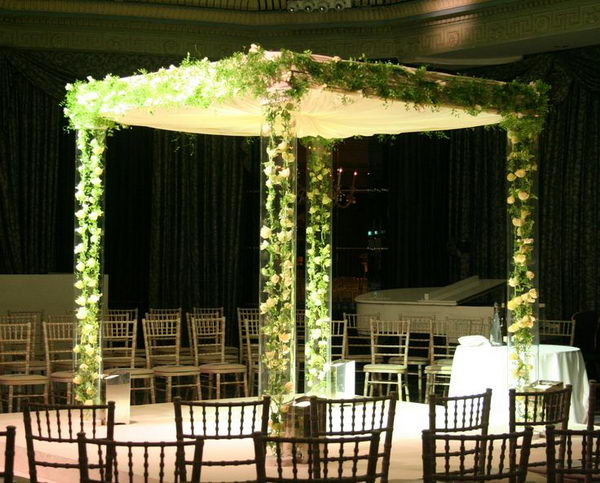 Tulip Chains Encased in Persex Chuppah.