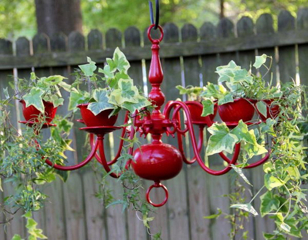 DIY Chandelier Planter.