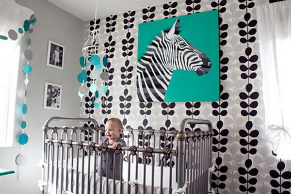 Black Blue and Grey Nursery.